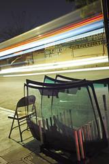 Light and glass (ADMurr) Tags: la eastside night broken windshield sidewalk leica m240 35mm zeiss zm m0004415edit