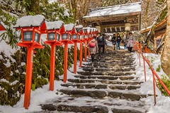SNOW, SNOW, SNOW at Kifune Shrine in Kyoto-Japan. (KyotoDreamTrips) Tags: japan kifuneshrine kyoto shinto snow yuki 貴船神社 雪 kyōtoprefecture jp
