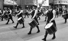 NYC Tartan Day Parade (neilsonabeel) Tags: nikonn90s nikon nikkor film analogue parade blackandwhite tartanday manhattan newyorkcity