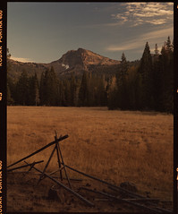 Mt Lassen on 120 film (Garrett Meyers) Tags: pentax67 garrett meyers garrettmeyers mediumformat 6x7 120 kodak kodakfilm kodakportra400 portra400 lassen mtlassen mountains mountain fall prairie grass landscape
