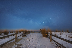 Astronomical Twilight (Mike Ver Sprill - Milky Way Mike) Tags: surf city astronomical twilight landscape nightscape milky way galaxy mike michael versprilll ver sprill amazing sls starry stack tutorials vlog youtube influencer new jersey nj shore pathway path snow