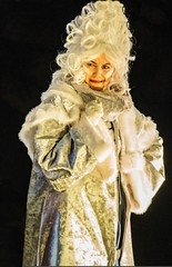 The White Witch (Kew Light Festival) (tramsteer) Tags: tramsteer blonde woman portrait hair coat black curls gloves kew light festival london england uk europe