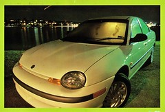 1996 Chrysler Neon (Australia) (aldenjewell) Tags: 1996 chrysler neon australia postcard