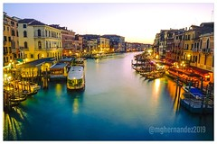 Vibrant Venice (Mario Hernandez (on and off, mostly off)) Tags: befree manfrottobefree manfrottotripod manfrotto carlzeiss2470 carlzeisslenses carlzeiss sonyalpha7 sonyalpha sony sunsetphotography susnset bluehourphotography bluehour grandcanal italy venice