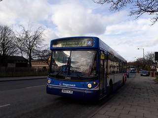 Stagecoach Newcastle 22012 Slatyford's oldest bus