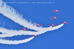 9932 7 ship R1 R2 R3 R5 R6 R7 R9 (photozone72) Tags: raf rafat redarrows reds redwhiteblue aviation aircraft jets hawk canon canon100400f4556lii canon7dmk2 7dmk2 scampton lincolnshire