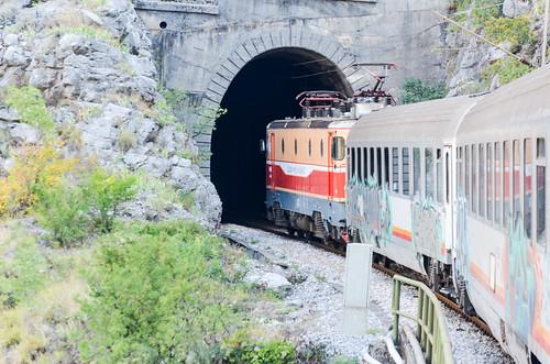 Train journey in Montenegro
