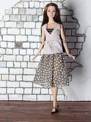 Sweetheart collection - pink lace shirt (Levitation_inc.) Tags: ooak doll handmade dolls outfit fashion fashions levitation levitationfashion sweetheart spring 2019 royalty poppy parker barbie cute romantic