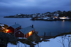 Nusfjord (yan08865) Tags: nusfjord lofoten norway arctic night cabins islands ocean nature sea calm sky landscapes nordic pavlis earth seascapes water waterfront lake river travel solo wide canon photographers nordland rorbuer boat tree mountain bay dusk landscape sunset