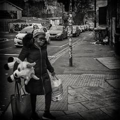 Shopping ln Stokes croft (Daz Smith) Tags: dazsmith fujifilmxt3 xt3 fuji bath city streetphotography people candid portrait citylife thecity urban streets uk monochrome blancoynegro blackandwhite mono stokescroft bristol teddy walking