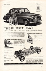 1949 Humber Hawk Rootes Group English Original Magazine Advertisement (Darren Marlow) Tags: 1 4 9 19 49 1949 h humber hawk r rootes g group s sedan c car cool collectible collectors classic a automobile v vehicle e england english b britain british 40s