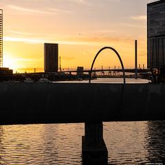 Sunset in Docklands (Derek Midgley) Tags: p1036041 docklands melbourne sunset sky