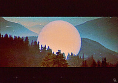 tfp (woodcum) Tags: gif animation animated gifanimation sphere forest woods hills nature landscape surreal bird retro glitch vhs