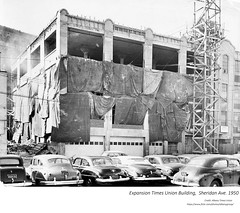 1950 Times union  building expansion Sheridan ave (albany group archive) Tags: 1950s old albany ny vintage photos picture photo photograph history historic historical