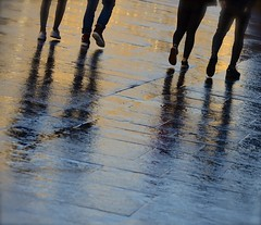 Footsteps (Edinburgh Photography) Tags: outdoors people walking feet reflections street photojournalism documentary edinburgh nikon d7000