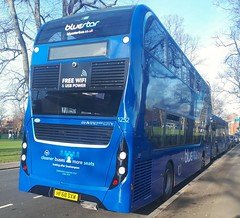 Bluestar 1252 has just been taken off route 18 and has taken the place that 1249 occupied earlier in the day on Palmerston Road. - HF68 DXW - 9th January 2019 (Aaron Rhys Knight) Tags: bluestar 1252 hf68dxw 2019 palmerstonroad hampshire southampton gosouthcoast goahead alexanderdennis enviro400city