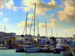Naxos Marina (dimaruss34) Tags: newyork brooklyn dmitriyfomenko image sky clouds greece naxos waterfront water yachts boats trees palmtrees