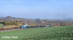 477.043 (Pepa Vítek) Tags: vlak lokomotiva locomotive papoušek damflocomotive specialtrain train zug jaro natural priroda panorama krajina historictrain retro hazmburk