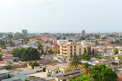 Osu (Francisco Anzola) Tags: accra ghana osu viewfromhotel view panorama city africa buildings ocean atlantic gulfofguinea bight benin