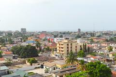 Osu (Francisco Anzola) Tags: accra ghana osu viewfromhotel view panorama city africa buildings ocean atlantic gulfofguinea bight benin
