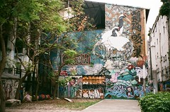 (Janeprogram) Tags: пленка 35mm bnwphotography blackandwhite filmphotography fujiindustrial100 graffiti 業務用100
