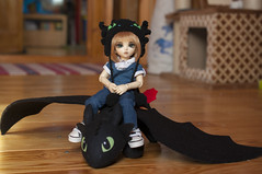 How To Train Your Dragon 10 (Mista-Oro) Tags: toy howtotrainyourdragon dragon dreamworks toothless fairyland ltf littlefee chiwoo bjd doll