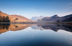 Blea tarn sunlit (Alf Branch) Tags: bleatarn tarn landscape lakedistrict lakes lake lakesdistrict leicadg818mmf284 sunrise morning calmwater refelections reflection olympus omd olympusomdem5mkii alfbranch water langdale langdalepikes littlelangdale cumbria cumbrialakedistrict stillwater