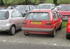 1984 VW Golf GTi (occama) Tags: a353sdv 1984 vw volkswagen golf gti old car cornwall uk german red