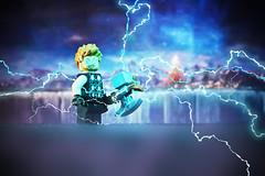LEGO Thor (weeLEGOman) Tags: lego thor minifigure minifigures marvel comics comic movie movies asgard lightning toys toy macro photography uk nikon d7100 105mm rob robert trevissmith weelegoman