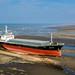 Wang Rong Cargo Ship Went Aground on Seaside in TaoYuan, Taiwan.