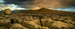 Yorkshire Pano (Tom Strawn) Tags: yorkshire dales landscape dusk boulder dramaticsky