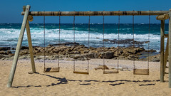 Swing with a view (bransch.photography) Tags: horizon swing sunny sand landscape view nature water gemstone scenic beauty swinging weather town sea southafrica sun blue coastline ocean beautiful turquoise indian coastal mosselbay sky beach color coast outdoor seaside colour gem seashore