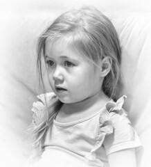 Granddaughter / Внучка (dmilokt) Tags: портрет portrait ребенок child dmilokt чб bw черный белый black white nikon d850