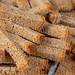 Crispy rusk from black bread