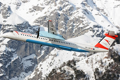 OE-LGG (toptag) Tags: bombardierdhc8402q400 q400 oelgg inn lowi innsbruck austrian dash tirol aviation winter snow