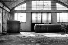 Little Boy & Fat Man (The Urban Tourist) Tags: urbanexploration urbex abandoned abandonedfactory industrial