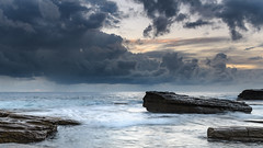 Rock Ledge and Seascape (Merrillie) Tags: daybreak theskillion nature australia terrigal sunrise morning newsouthwales rocks earlymorning nsw sea rocky ocean coast landscape dawn coastal waterscape outdoors seascape waves centralcoast water sky