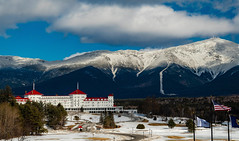 Mount Washington Hotel (mikedaub30) Tags: clouds mountain hotel architect blue sky white red building outside design nikkor nature light snow sun winter landscape nikon