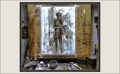 MUSEU  DARDER-NEGRE DE BANYOLES-HISTORIA-PINTURA-ART-BOSQUIMANO-CUERPOS-DISECADOS-PINTANDO-PERSONAJES-ESCENAS-HISTORIA NATURAL-ANTIGÜEDAD-RECUERDOS-PINTURAS-PINTOR-ERNEST DESCALS- (Ernest Descals) Tags: banyoles museudarder museo museus museum museos girona catalunya cataluña catalonia paint pictures negredebanyoles bosquimanos cuerpos disecados enbalsamados historia historianatural zoologia coleccion coleccionista francescdarder exposicion sereshumanos africa artwork arte art personaje personatge personajes historicos epoca antigüedad antiguos catalogo museistico pintura pintar pintant pintando recuerdos memoria memory records piezas pinturas estudio pintures cuadros quadres cuadro figuras craneos estanterias pintor pintors pintores painter painters paintings painting descals plastica ernestdescals artistes catalans artistas plasticos human man hombre estudios famosos