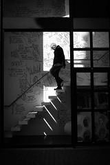 light&shadow (Rien van Voorst) Tags: streetphotography straatfotografie strasenfotografie fotografíacallejera photographiederue fotografiadistrada monochrome city urban highcontrast nederland dutch thenetherlands paysbas niederlände trap treppe stairs licht schaduw schatten shadow