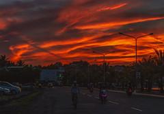 Skyfall (YukiiiGan) Tags: puro lamba legazpi city boulevard sunset clouds albay bicol philippines