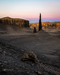 Waiting on the Rising Sun (Just Used Pixels) Tags: utah needle formations rock badlands landscape mountains