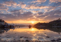 Sunset. A shot from Wednesday evenings sunset at Galmpton Creek on the river Dart in South Devon. (Hoovering_crompton) Tags: sunset galmptoncreek riverdart devon englishriviera nikond7200 landscape seascape
