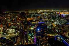 Melbourne all lit up for 2019 New Years Eve (Marian Pollock) Tags: australia melbourne newyearseve overhead fromabove night lights city festive 2019 victoria eurekatower