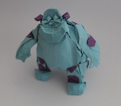 SULLY (Monsters, inc) (Anicé Claudéon) Tags: monsters origami pliage disney paper papier sully