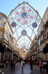 Christmas Lights, Málaga (Jonathan Makin) Tags: málaga malaga town city street urban spain andalucia christmas lights boulevard shopping festive xmas