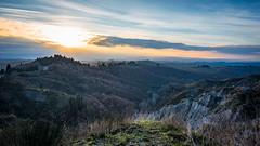 the chronicles of Tuscany (*magma*) Tags: colline hills toscana tuscany cretesenesi paesaggio landscape nuvole clouds controluce backlight sunset tramonto alberi trees