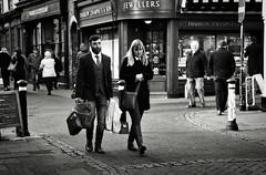 He's Bought a Lot (Bury Gardener) Tags: suffolk streetphotography street streetcandids snaps strangers candid candids people peoplewatching folks nikond7200 nikon burystedmunds bw blackandwhite britain england eastanglia uk 2019 monochrome mono m abbeygatestreet