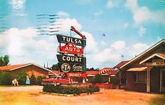 American Postcard (Thomas Hawk) Tags: america california oklahoma sfmoma sanfrancisco tulsa tulsaautocourt usa unitedstates unitedstatesofamerica motel neon postcard us fav10 fav25