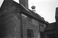 local architecture (Albie Chambers) Tags: film 35mm industry industrial bw black white greyscale factory brick metal corrugated old historical building construction